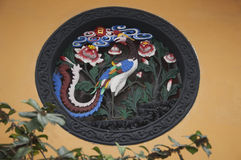 A phoenix wall impression at Jade Buddha Temple Stock Photography