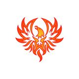 Phoenix wektoru szablon Obraz Stock
