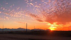 Phoenix, West Side South Mountain sunset, Az Timelapse stock video footage