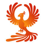 Phoenix on the white background. Fire-bird. Vector illustration of the Phoenix on the white background. Fire-bird Royalty Free Stock Photos