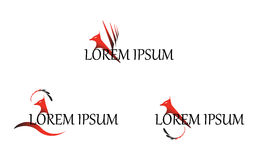Phoenix Wing Logo Template Vector Design Stockbilder