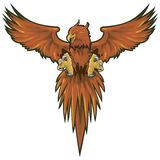 Phoenix With Clipping Path Stock Images