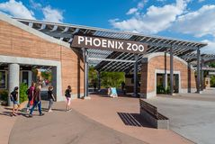 Phoenix zoo wejście Zdjęcia Royalty Free