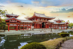 Phoenixen Hall av Byodo-i templet i Kyoto Royaltyfri Foto