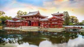 Phoenixen Hall av Byodo-i templet i Kyoto Royaltyfria Foton
