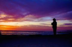 Phogographer di tramonto Immagine Stock Libera da Diritti
