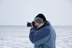 Phographer in Winter 3 Royalty Free Stock Image