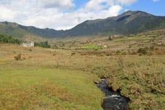 Phojika谷-不丹 库存照片