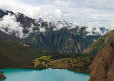 Phoksundo lake in Dolpo area in the Nepal Himalaya Stock Photography