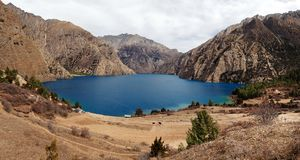 Phoksundo Tal or Ringmo Lake Stock Photography