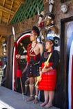 Phom部落男人和妇女Horbnill节日的, Kisama 免版税库存照片