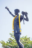 Phon Kingphet Monument, Hua Hin. Monument statue to the first Thai to win an international boxing championship. Phon Kingphet (1935 - 1982) was World Flyweight stock photography