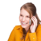 At the phone Royalty Free Stock Photography