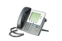 Phone. Office phone isolated on the white background Stock Photos