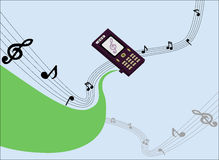 Phone. Plays music,  illustration Royalty Free Stock Images