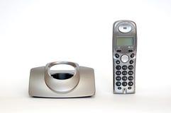 Phone. Stationary phone over white background Stock Image