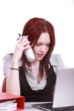 On the phone. Royalty Free Stock Image