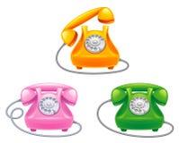 Phone. Telephone on a white background Stock Photos