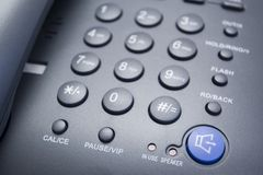 Phone. Closeup of telephone on the dial area Royalty Free Stock Photography