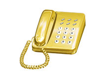 Phone. Computer image, phone 3D, isolated white background Royalty Free Stock Images