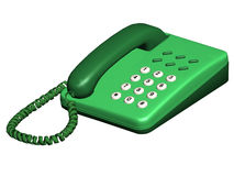 Phone. Computer image, phone 3D, isolated white background Stock Photography