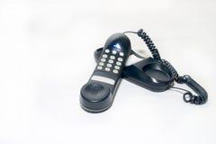Phone. Black phone royalty free stock photo
