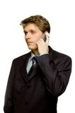 On the phone. Handsome businessman on the phone Royalty Free Stock Photos