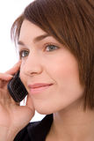 On the phone Royalty Free Stock Images