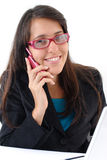 On the Phone Royalty Free Stock Photography