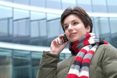 On a phone Royalty Free Stock Image