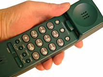 Phone. With hand Royalty Free Stock Photography