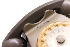 A phone from the 70's. Part of a old rotary phone Stock Photos