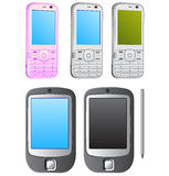 Phone. Set of vector moder mobile phone Royalty Free Stock Images