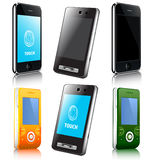 Phone. Set of vector moder mobile phone Stock Photos