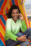 On the phone Royalty Free Stock Image