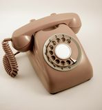 Phone. Old phone in retro color Royalty Free Stock Photos