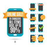Phone Ad Labels Royalty Free Stock Photos