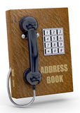 Phone and Address Book Concept - 3D Royalty Free Stock Photo