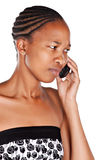 Phone angry woman Royalty Free Stock Image
