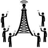 The phone antena Stock Image