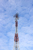 Phone antenna. Mobile towers With beautiful sky Stock Photography