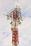 Phone antenna. Phone signal towers. The morning sky Royalty Free Stock Image