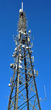 Phone Antenna telecomunications mast Royalty Free Stock Images