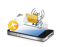 Phone app cloud computing illustration Stock Images