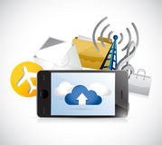 Phone app cloud computing illustration design Stock Photo