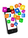Phone Applications Stock Photo