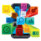 Phone Apps Stock Images