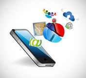 Phone apps icons illustration design Royalty Free Stock Images