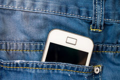 Phone in back pocket Stock Images