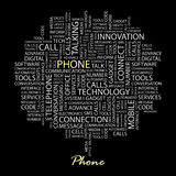 PHONE. Royalty Free Stock Photography